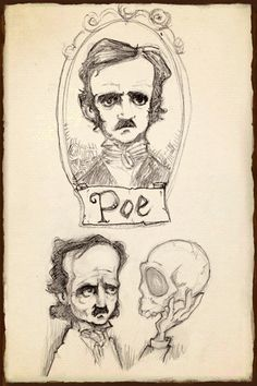 "cpnblowfish: "" Sketchbook of Poe's Tell-Tale Heart by David Garcia Forés "" Edgar Allan Poe, Annabel Lee, Writers And Poets, Sylvia Plath, Poe Tattoo, Fantasy Magic, American Literature, Book Writer, Portfolio"