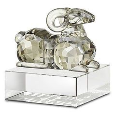 Swarovski Zodiac Sheep.  Learn all about the Chinese Zodiac Sign of The Sheep @ http://www.buildingbeautifulsouls.com/zodiac-signs/chinese-zodiac-signs-meanings/chinese-zodiac-chinese-sheep/