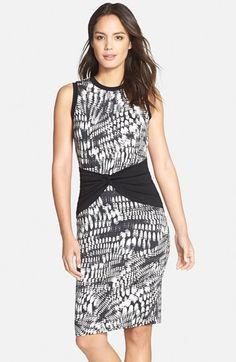 Nicole+Miller+Scale+Print+Jersey+Sheath+Dress+available+at+#Nordstrom
