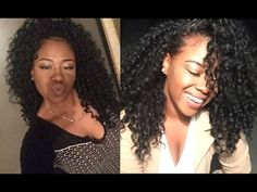 How I style my half wigs: 2-in-1 tutorial Outre Bahamas - YouTube