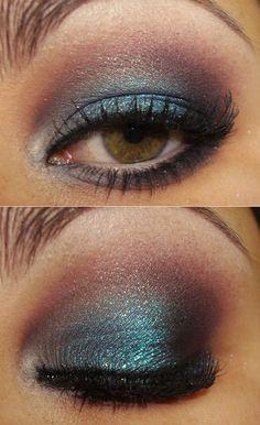 blue/ red eyeshadow
