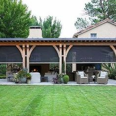 48 backyard porch ideas on a budget patio makeover outdoor spaces best of i like this open layout like the pergola over the table grill 41 - All For Garden Covered Patio Design, Covered Deck Designs, Patio Grande, Gazebos, Backyard Patio Designs, Diy Patio, Backyard Ideas, Pergola Ideas, Pergola Kits