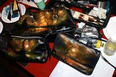 Handpainted handbags