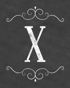 X Chalkboard Designs, Monogram Alphabet, Chalk Art, Cute Crafts, Lettering Design, Free Printables, Stencils, Initials, Typography
