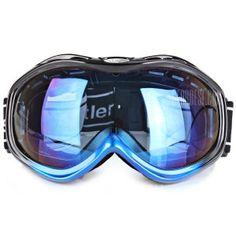 Euopean O - Flame Design Snowmobile Large Size Ski Goggle Windproof Eyewear