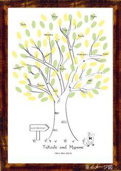 Wedding Tree【Pig】Finger Print ウエディングツリー ぶたさん その他 結婚式ペーパーアイテムや披露宴のパンフレット形の席次表など。こだわりブライダルのお手伝いトゥルーハートイズプット。