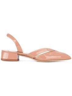 Shop Olgana 'La Moustache Vernice' sandals.