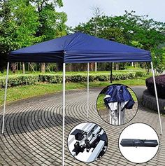 Z ZTDM Easy Pop-Up Instant Event Canopy Gazebo Party Tent Folding Portable Shelter Slant Leg-8.2u0027 x 8.2u0027 Blue with Carrying Bag INSTANT SHELTER-The pop-up ... & Character | Character Pop Up Game | Games | Sport direct ...