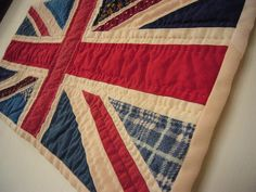 """""""Union Jack Patchwork Flag"""" would love to turn this into a quilt."""