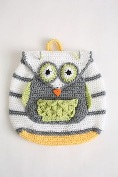 Jessica   Crochet Designs: Owl See You at School Backpack