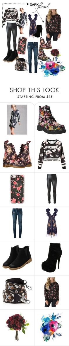 """""""Floral print"""" by maryann-bunt-deile ❤ liked on Polyvore featuring Forever 21, Dr. Martens, Casetify, Givenchy, Balmain, Alexander McQueen, Luichiny, Rebecca Minkoff and Vans"""