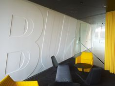 Signage systems at the Adidas Laces HQ | thomas creative