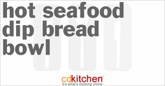 Made with Italian bread, cream cheese, crab meat, baby shrimp, cheddar cheese, onion powder, salt and pepper | CDKitchen.com