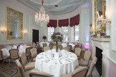 The Duchess room set-up for a banqueting event. Our in-house team of chefs cater to the highest standards and we are able to offer complimentary tastings for large events.
