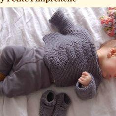Gilet tricoté main, legging bonpoint