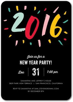 Throw the best New Year party on the block starting with the perfect invitations.