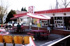 Snookies Malt Shop - the perfect destination for a walk on a warm day.