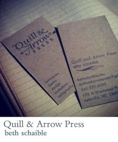 quill and arrow press