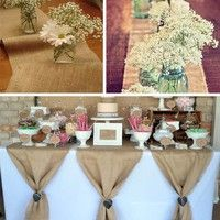 Buy Vintage Hessian Jute Burlap Roll For Wedding Party Table Runner Banquet Home Venue DIY Supply at Wish - Shopping Made Fun Craft Wedding, Wedding Table, Rustic Wedding, Wedding Vintage, Burlap Table Runners, Lace Table, Rustic Table, Diy Table, Country Wedding Decorations