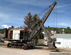 Bucyrus 50-B Steam Shovel, strange crane...this has got to be the one in Willits, CA at the Roots of Motive Power Museum