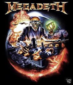 Megadeth Dystopia Medium Black T Shirt Dave Mustane Countdown Extinction Vic Heavy Metal Bands, Heavy Metal Rock, Heavy Metal Music, Rock Band Posters, Rock Poster, Hard Rock, Music Artwork, Metal Artwork, Art Music