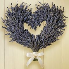 I love this! A lavender heart wreath from Williams-Sonoma