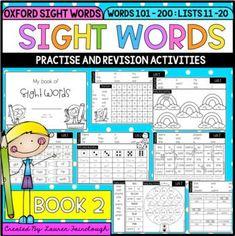 Sight Word Activities - Book 2 Sight Word Practice, Sight Word Games, Sight Word Activities, Interactive Activities, Sight Words, Classroom Activities, Book Activities, Teaching Resources, Teaching Ideas