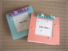 Diy And Crafts, Paper Crafts, Craft Punches, Message Card, Diy Cards, Wraps, Happy Birthday, Greeting Cards, Presents