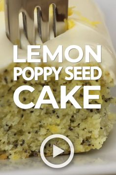 - This Lemon Poppy Seed Cake with Cream Cheese Frosting is soft, moist & deliciously buttery with a fresh lemon flavor. Dotted with poppy seeds & topped with cream cheese frosting - it's the perfect dessert for lemon lovers! Best Lemon Cake Recipe, Homemade Lemon Cake, Cake Mix Recipes, Frosting Recipes, Dessert Recipes, Lemon Desserts, Lemon Recipes, Lemon Cake Frosting, Cream Frosting