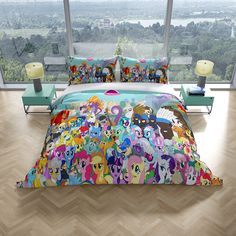 This adorable My Little Pony Kids Quilt Double Doona Duvet Cover Bedding Cover Set is a must for all My Little Pony fans. All My Little Pony, Double Quilt, Duvet Bedding, Quilt Cover Sets, Twilight Sparkle, Fluttershy, Rainbow Dash, Bed Covers, Pillowcases