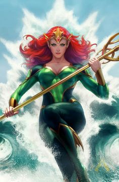 """Mera #1 Variant Cover By Stanley """"Artgerm"""" Lau"""