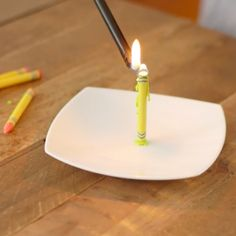 No need to wax poetic. Keep things light with a crayon candle.