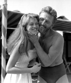 Brigitte Bardot and Kirk Douglas at the Cannes Film Festival, 1953