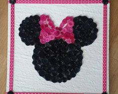 Disney button art Minnie mouse button Button by JennMakesItCute