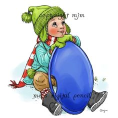 Mo's Digital Pencil - Wishing for Snow Boy , $4.00 (http://www.mosdigitalpencil.com/wishing-for-snow-boy/)
