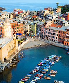 Vernazza, Italy  These postcard-perfect pastel pink, lemon yellow, and sea green façades were hit by devastating floods in 2011. While the damage to Vernazza and the four other scenic waterfront villages that make up Cinque Terre was severe, efforts are under way to restore, rebuild—and repaint.