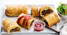 Cheeseburger plus sausage roll, equals this tasty dinner-time solution.
