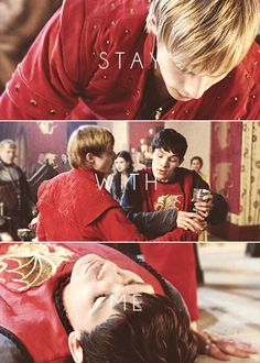 Arthur & Merlin favorite episode in the world of merlin other then the final episode in the final season ever that one was so sad I cried for 5 days straight!! So depressing I miss it come back on.