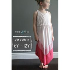 NEW Chevron Dress pattern and tutorial PDF 6y-12y easy sew long tank dress tunic on Etsy, $6.94