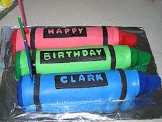 individual crayons cakes