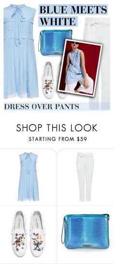 """BLUE MEETS WHITE"" by ifchic ❤ liked on Polyvore featuring N°21, IRO, Joshua's, Mohzy and contemporary"