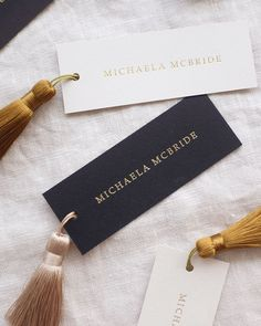 Name Place Cards, Wedding Place Cards, Name Cards, Custom Wedding Invitations, Wedding Stationary, Stationery Design, Wedding Designs, Tassels, Wedding Planning
