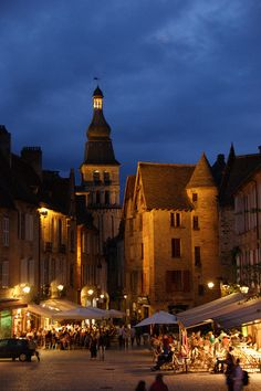 Sarlat-la-Canéda, Dordogne, France. Beautiful town.