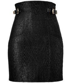 Balmain - Black High Waisted Mini Skirt