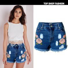Uwback 2016 New Brand Summer Shorts Women Denim High Waist Boho Floral Ripped Women Shorts Plus Size Casual Shorts Femme TB979-in Shorts from Women's Clothing & Accessories on Aliexpress.com | Alibaba Group