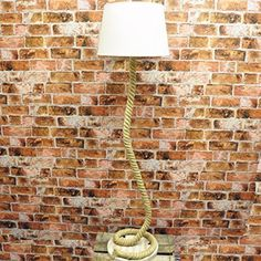 148cm Nautical Farmhouse Style Coiled Rope Floor Lamp with Linen Look Shade: Amazon.co.uk: Lighting Farmhouse Style, Floor Lamp, Nautical, Navy Marine, Farm House Styles, Nautical Theme