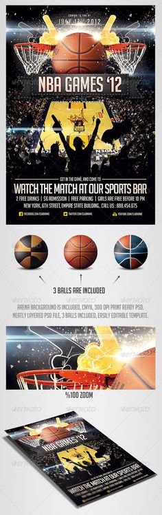 Flyer template, Flyers and Basketball on Pinterest - sports flyer template
