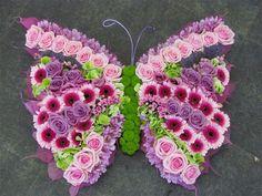 Butterfly Floral Design Fresh Flowers RePinned by: VilleresFlorist.com