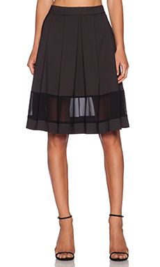 Harlyn Black Midi Skirt