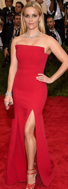 Reese Witherspoon': Dress – Jason Wu  Jewelry – Tiffany and Co.